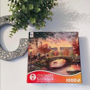 Thomas Kinkade Autumn in NY 1000 pieces  puzzle